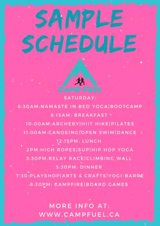 Elle Sample Schedule